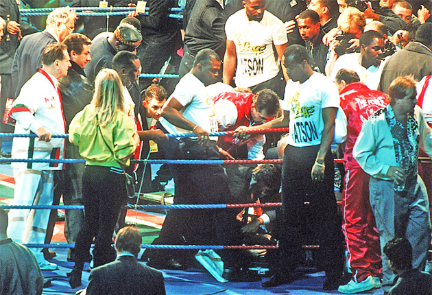 Boxing The Night Michael Watsons Career Was Ended The Independent