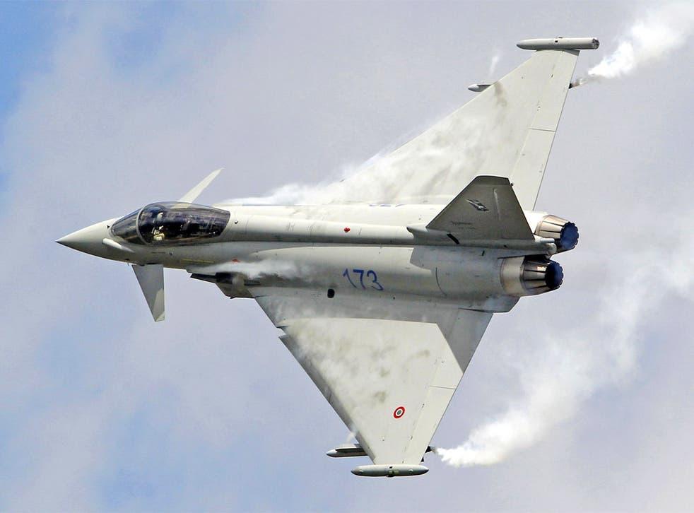 A Eurofighter Typhoon jet