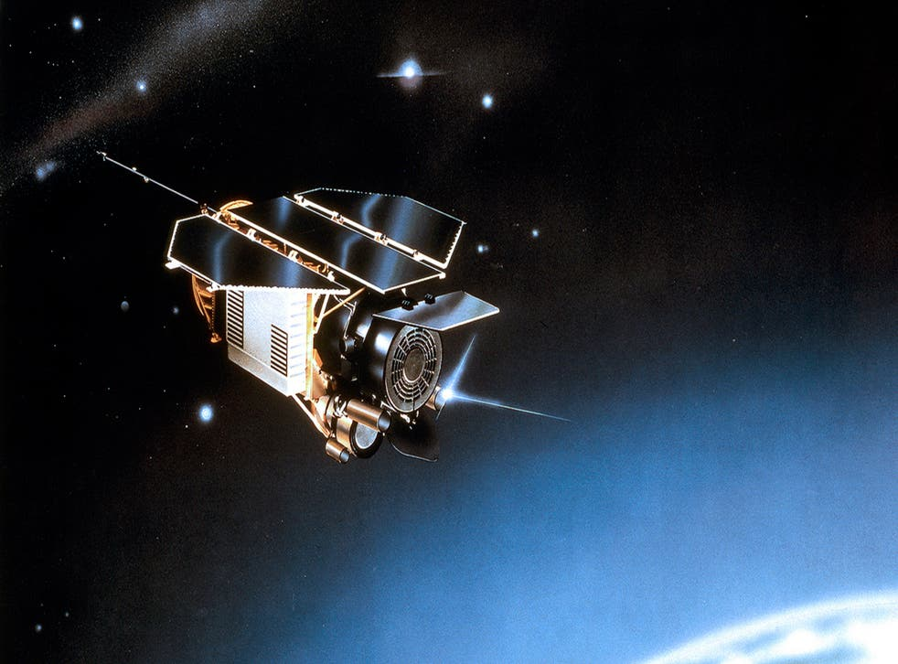 This undated artist rendering provided by EADS Astrium shows the satellite ROSAT.