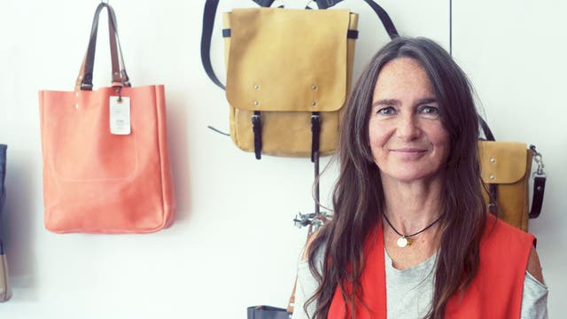 Bags of style: Ally Capellino in her newly opened west London store fitted out by interior designer Rupert Blanchard
