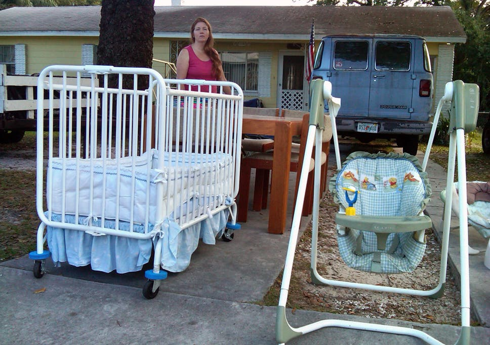 Financially Strapped Renee Sullivan Holds A Yard Sale Outside Her Home In  Lakeland, Florida,