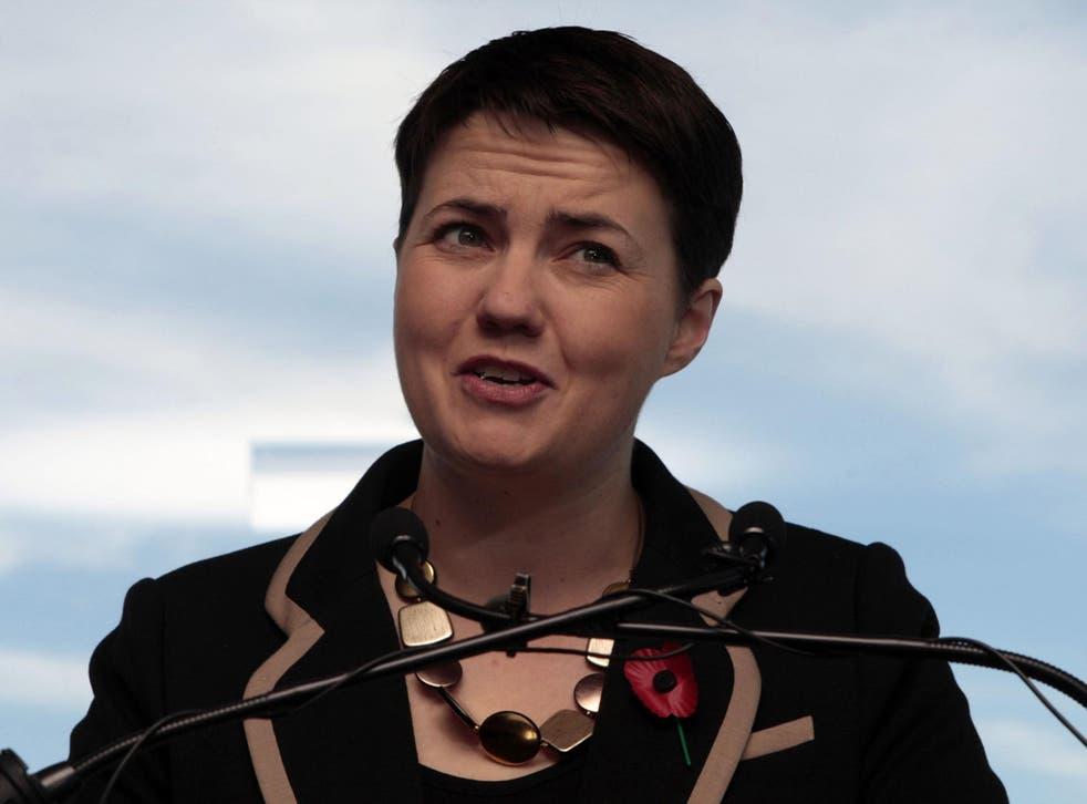 'We have much work to do': Ruth Davidson in Edinburgh yesterday