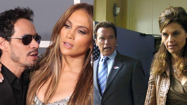 Spilt couples: Marc Anthony and Jennifer Lopez