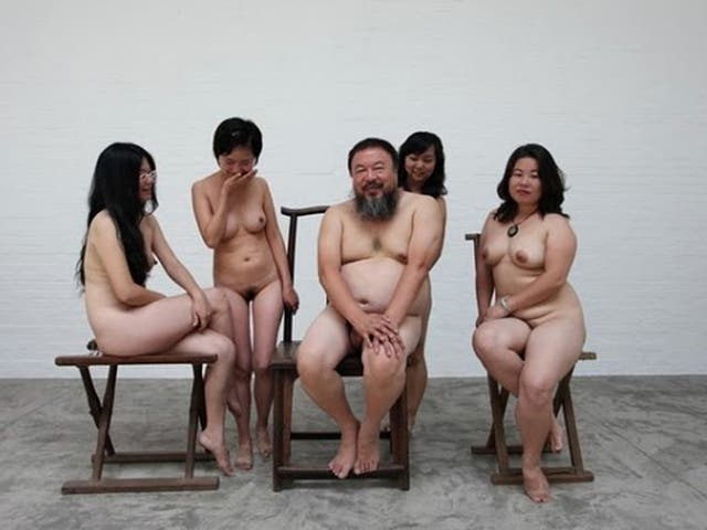 Ai Weiwei's nude group portrait is entitled 'One Tiger, Eight Breasts'