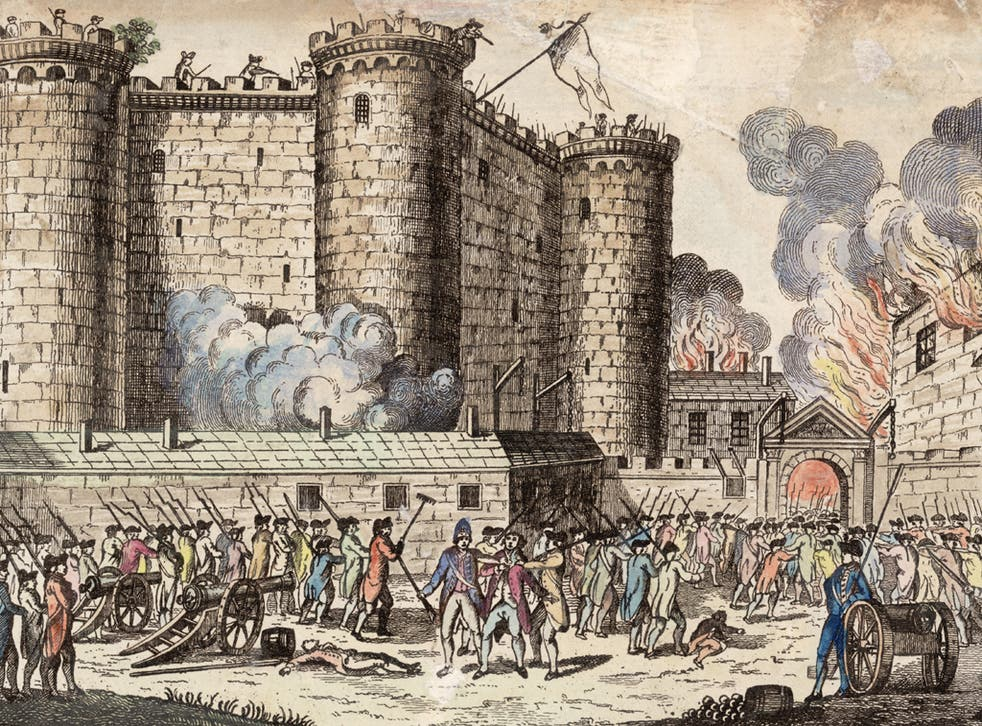 The storming of the Bastille on 14 July 1789, the birth of a new Europe