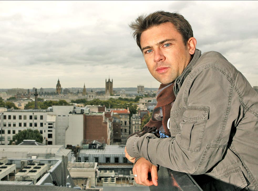 Riding high: Owen Sheers has just started rehearsals in London for his war play, 'The Two Worlds of Charlie F'
