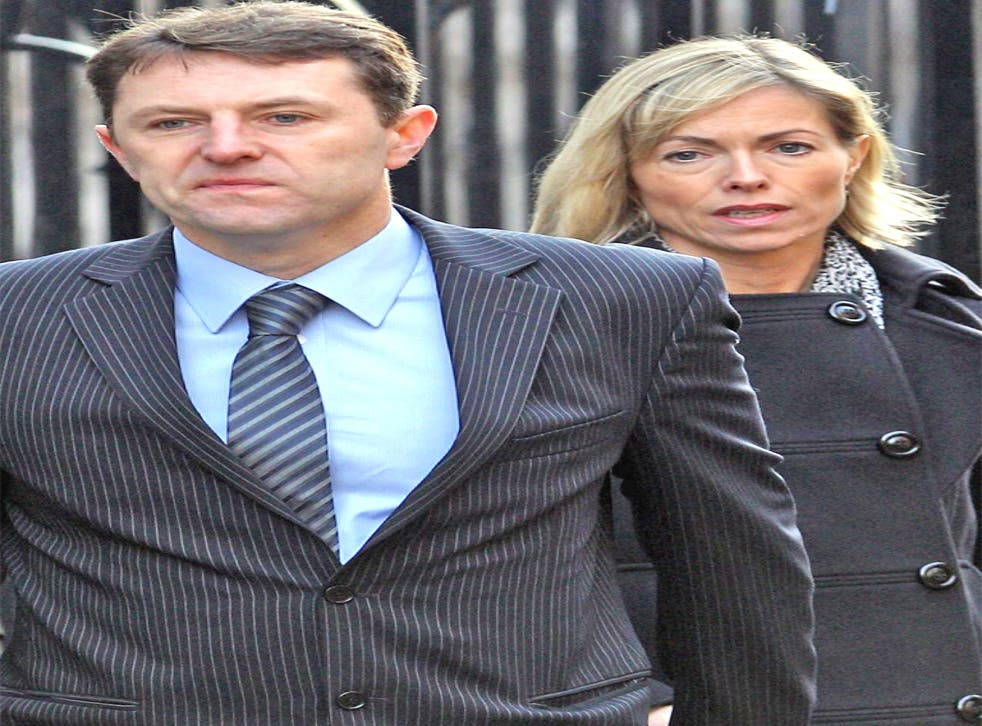 Gerry and Kate McCann arrive at the Leveson Inquiry yesterday