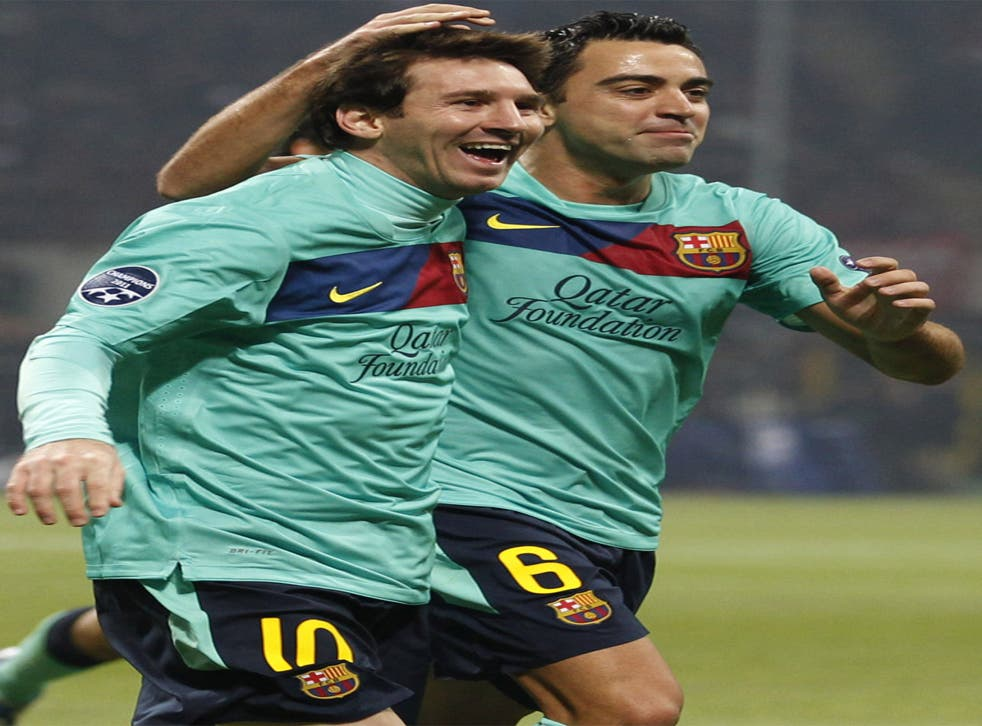 Lionel Messi's perfect pass set up Xavi for Barcelona's winner