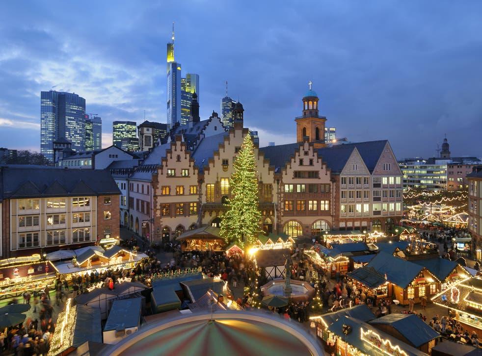 Frankfurt's Christmas market is so successful it has been copied in three British cities