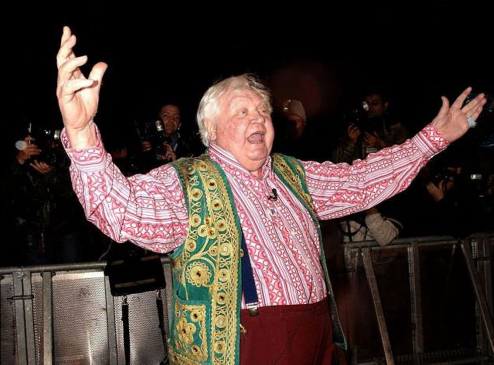 Ken Russell arriving to enter the Celebrity Big Brother house