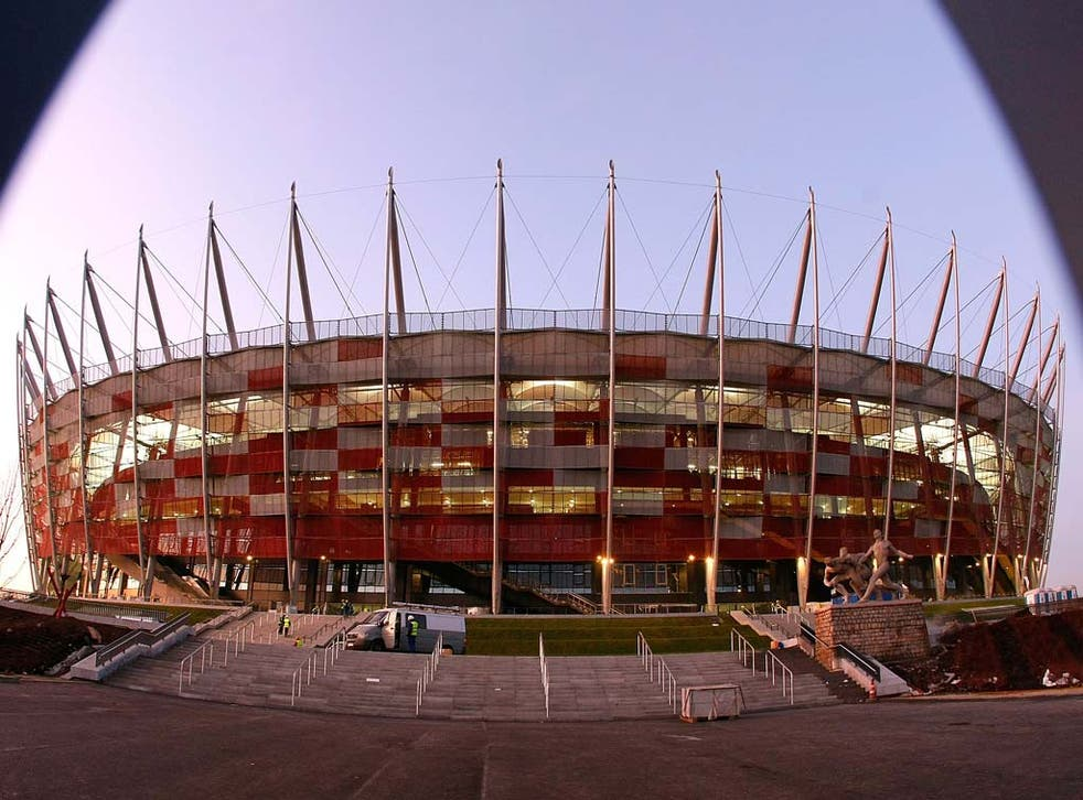 WARSAW (Poland) / National Stadium, capacity (for Euro 2012): 50,000 / Euro 2012 will open at Poland's new National Stadium, which has been built with £255million of government money on the site of the old 10th Anniversary Stadium. Close to the Vistula ri