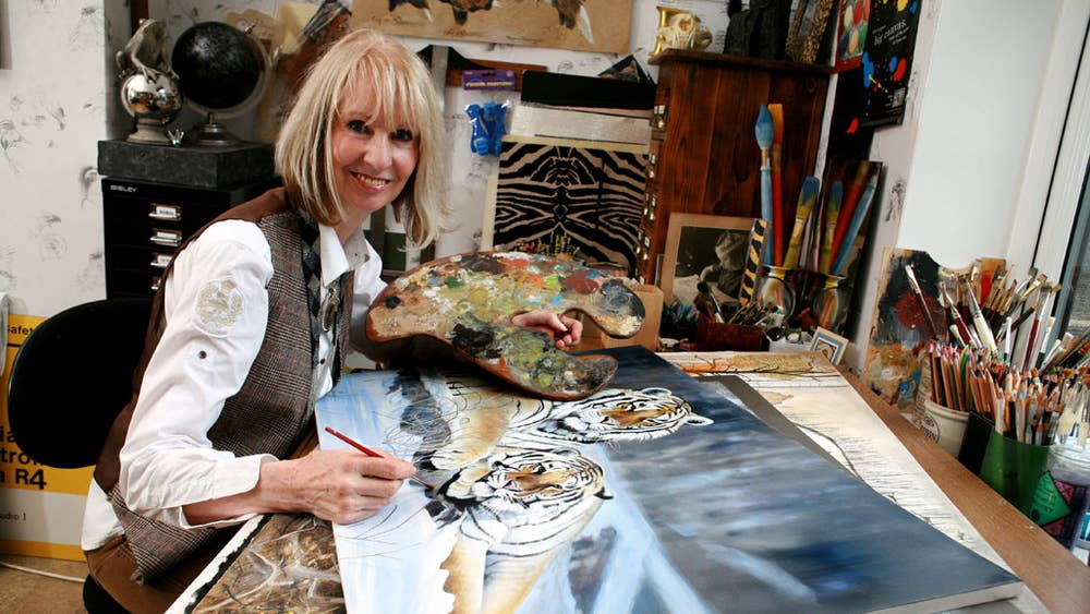 Tiger mother: Wildlife artist Pollyanna Pickering meets
