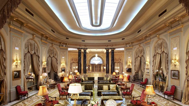 El Palace's sumptuous public rooms have been opulently revamped as part of the hotel's £27m refurbishment