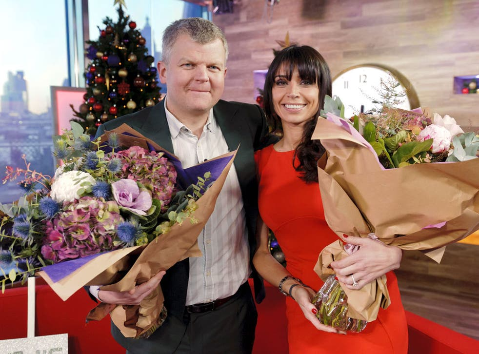 Adrian Chiles and Christine Bleakley after the final Daybreakshow. Despite a huge budget the programme failed to beat its BBC rival