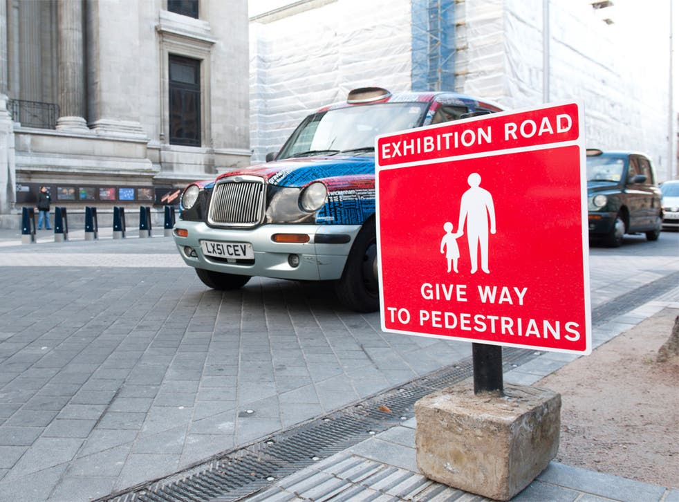 It's good to walk: the redesigned Exhibition Road in west London is a 'shared space' for pedestrians and cars