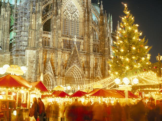 Bright lights: The Christmas market at the cathedral