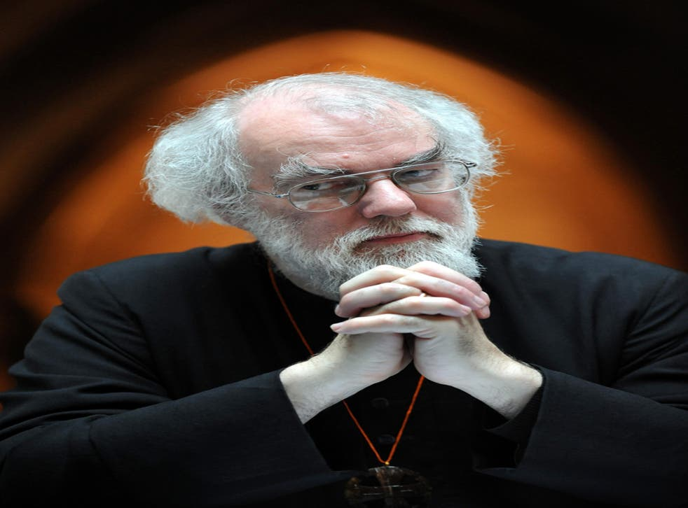 <p>Dr Rowan Williams, the Archbishop of Canterbury, questioned the Government's mandate</p>