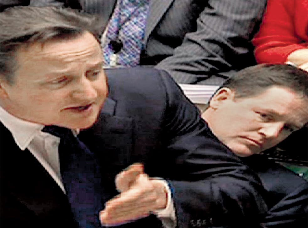 <p>Nick Clegg was at PMQ on Wednesday, but missed the Tory leader's Monday statement on Europe</p>