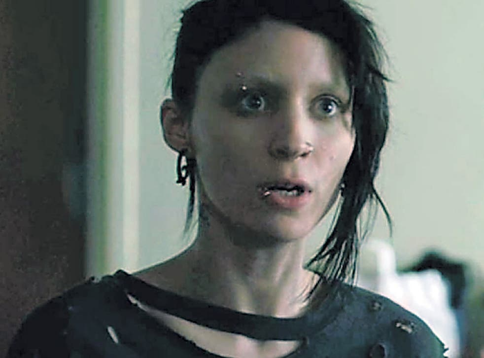 <p>Fringe of society: Rooney Mara in 'The Girl with the Dragon Tattoo'</p>