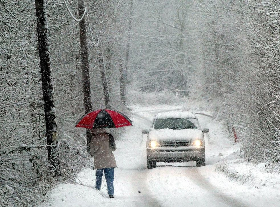 December 2012 - with large parts of the country covered in snow