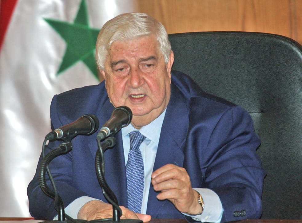 <p>The Foreign Minister, Walid Moallem, said the observers would be free to move around Syria</p>