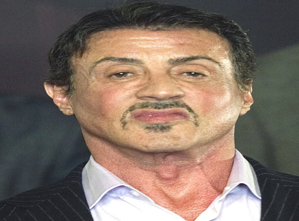 US actor Sylvester Stallone at the musical 'Rocky' in Hamburg