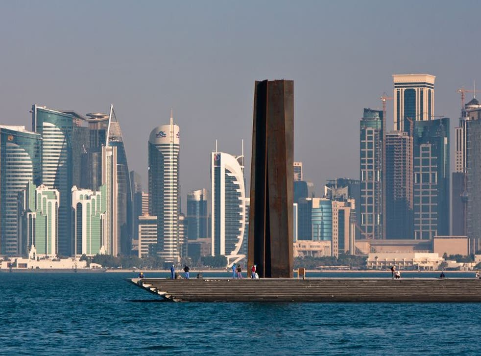 Extravagance personified: Serra's 7 soars out of the Bay of Doha