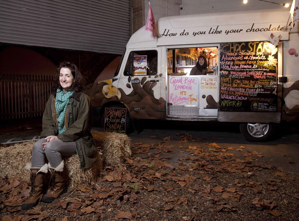 Petra Barran is the boss, cook, driver and sales force of the acclaimed mobile chocolatier, Choc Star