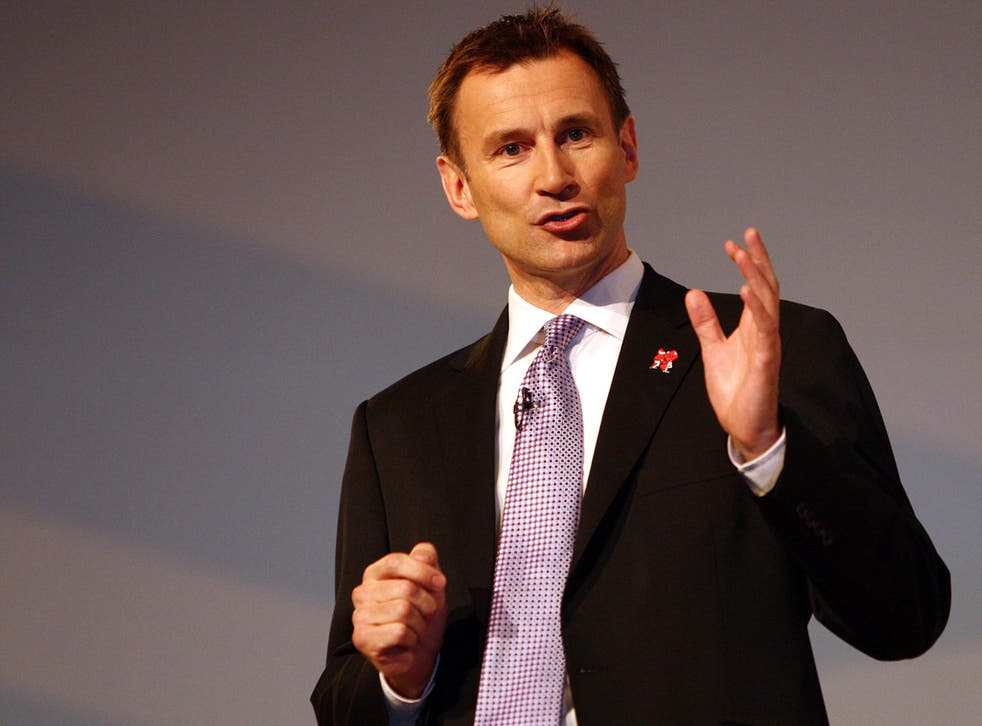 Jeremy Hunt said he wanted to see industry-led independent press regulation