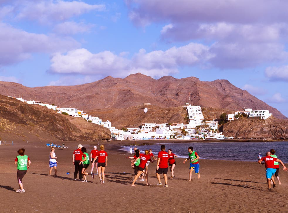 All work out and no play? Despite group drills, beach runs, ex-military instructors and some super-fit guests, BMF's new holidays are a fun way to boost your fitness - and to eat, drink and be merry