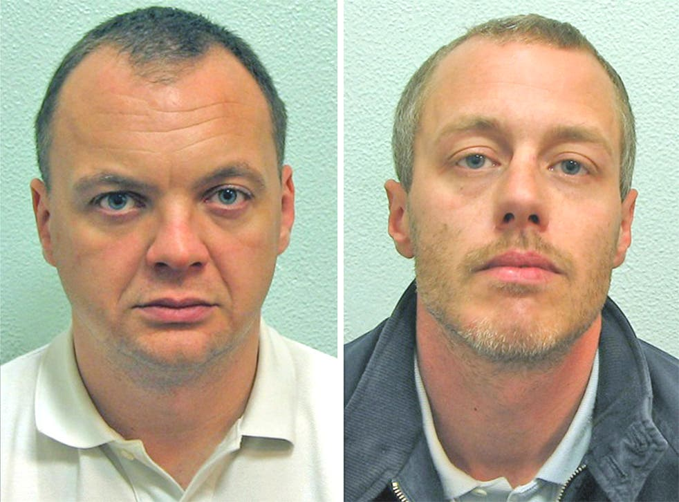 Gary Dobson, left, and David Norris were sentenced for the killing of Stephen Lawrence today