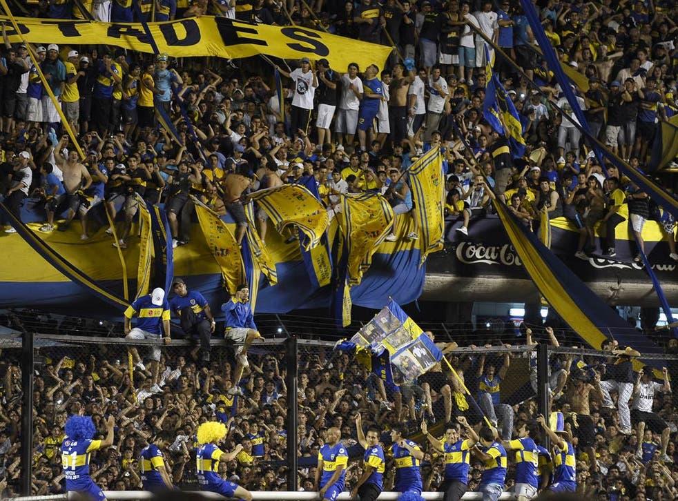 Boca Junior fans at La Bombonera