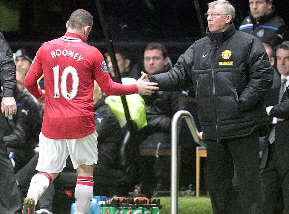 Sir Alex Ferguson substitutes Wayne Rooney at Newcastle on Wednesday night