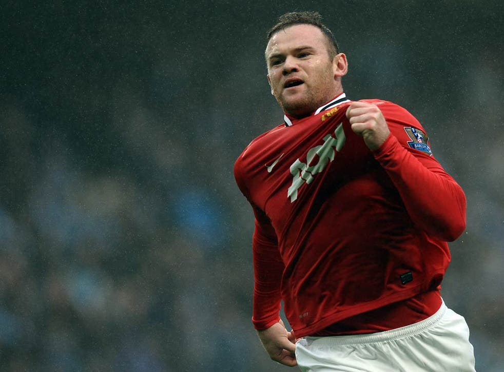 Wayne Rooney scored twice against City as United progressed to the fourth round