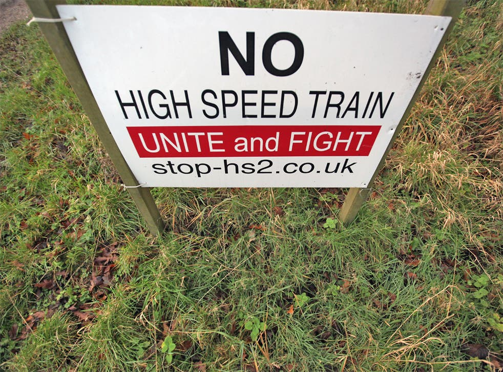 Campaign groups have said those along the HS2 route will fight tooth and nail to prevent it