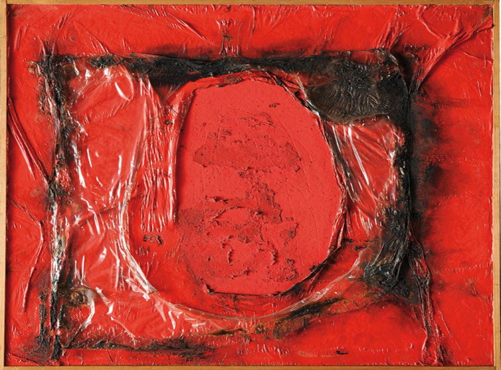 Red Plastic 1961, Alberto Burri