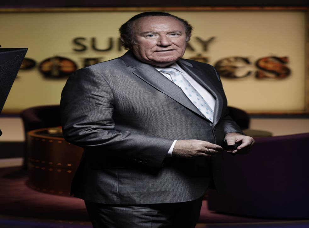Andrew Neil on the set of 'Sunday Politics', which starts at noon today