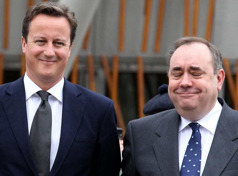 'Maybe we should organise a whipround,' Alex Salmond told the SNP's National Executive Committee, 'so we can pay for David Cameron to fly up here and help out the independence campaign a bit more'