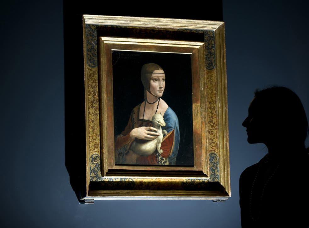 A portrait of Cecilia Gallerani (Lady with an Ermine) by Leonardo da Vinci