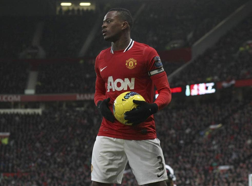 Patrice Evra has been handed the United armband