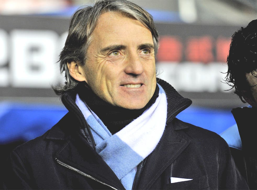 Mancini has twice recently been criticised for his touchline conduct