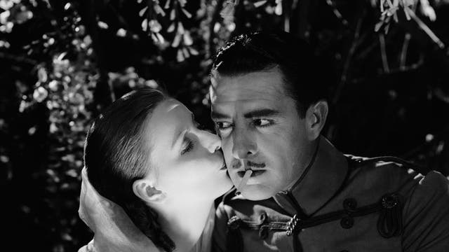 Lighting up the screen: Greta Garbo and John Gilbert fall for one another in 'Flesh and the Devil'.