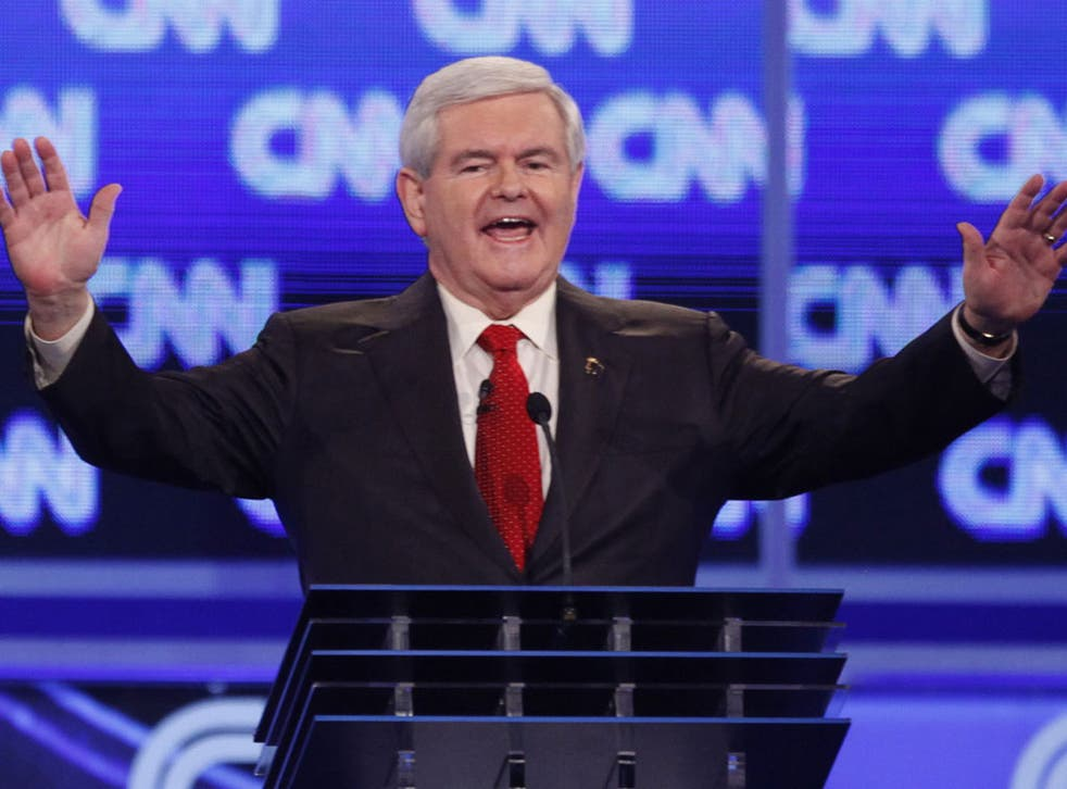 Newt Gingrich faced stunning allegations from his ex-wife yesterday