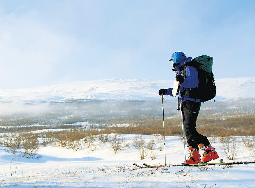 Out cold: The King's Trail crosses some spectacular and savage terrain