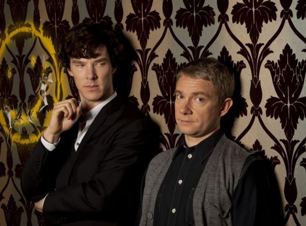 Benedict Cumberbatch, left, and Martin Freeman