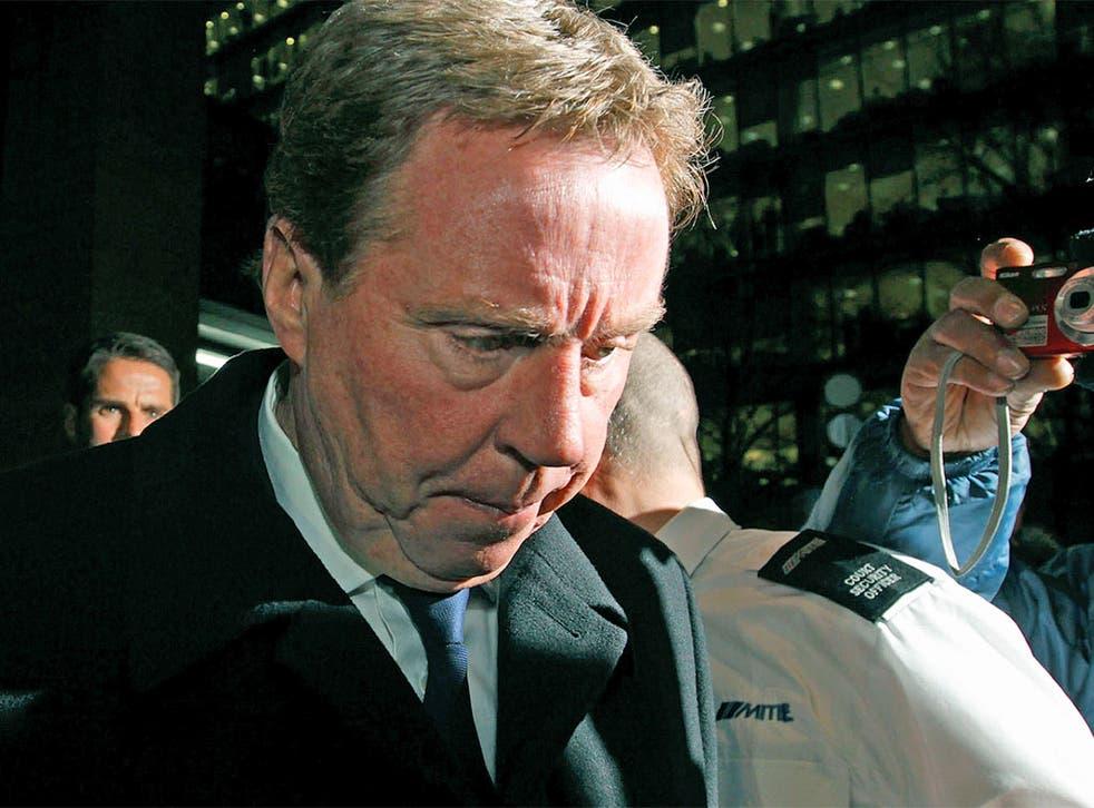 Harry Redknapp leaving Southwark Crown Court yesterday