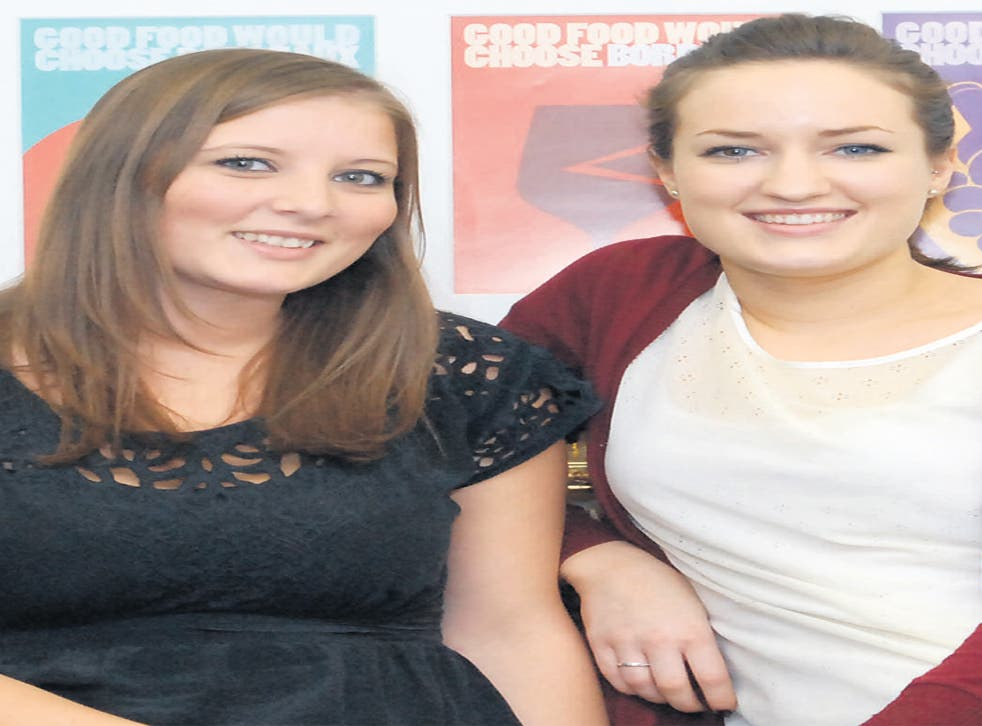An impressive work placement earned Sam Mosley (left) and Sarah Mullen employment straight out of uni