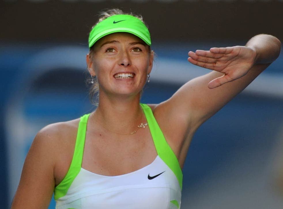 Maria Sharapova makes it through and into the final