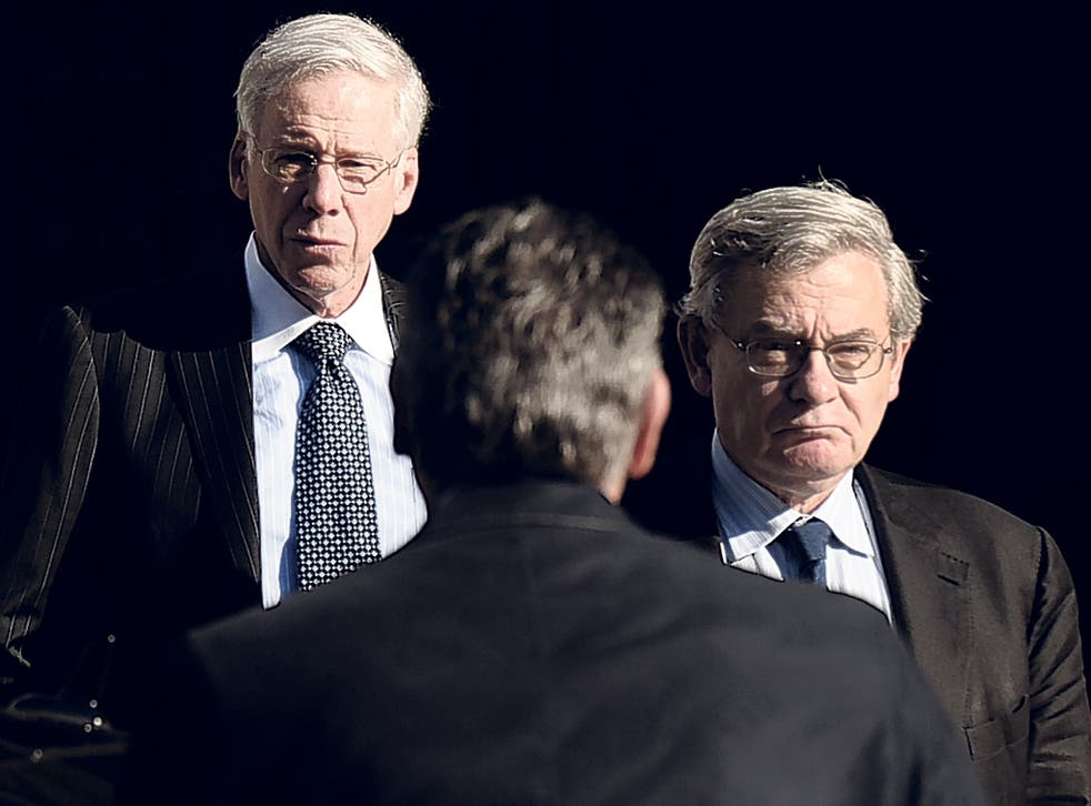 Jean Lemierre, right, and Charles Dallara, who speak for Greek creditors