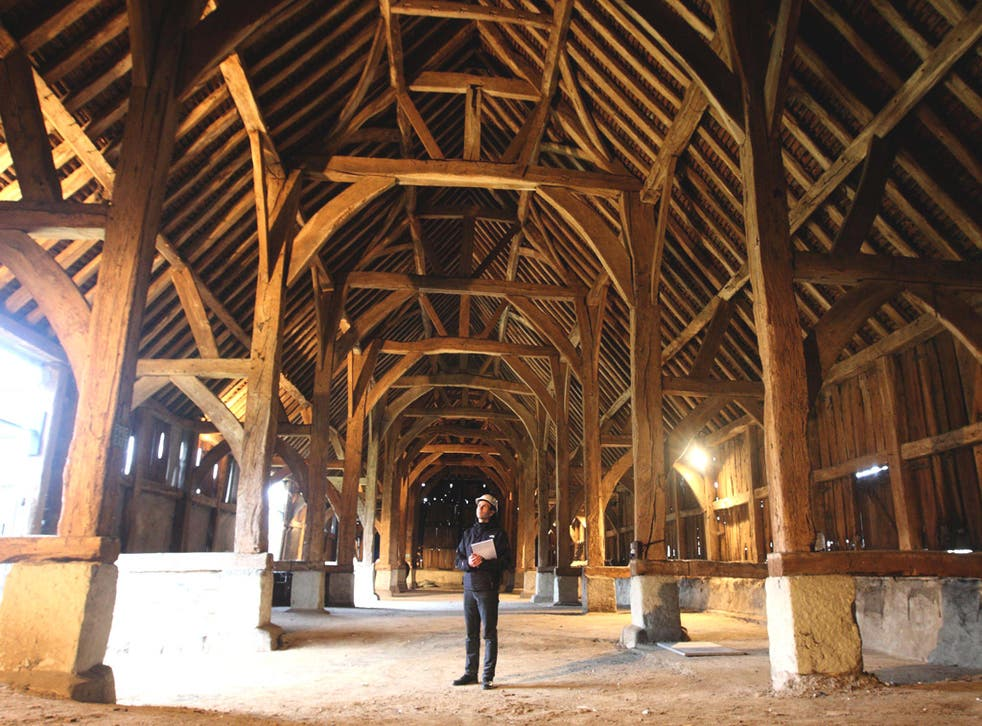 'The cathedral of Middlesex': Great Barn of Harmondsworth has been rescued by English Heritage